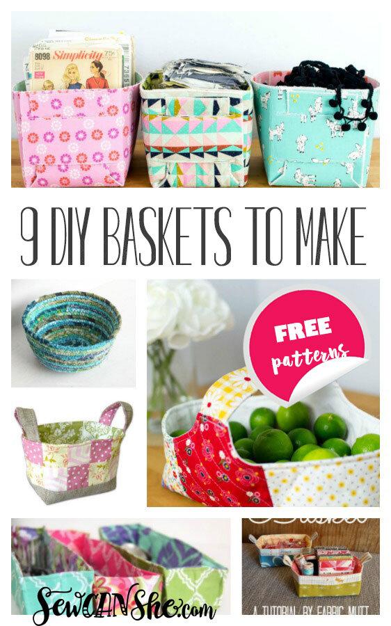 basket sewing patterns