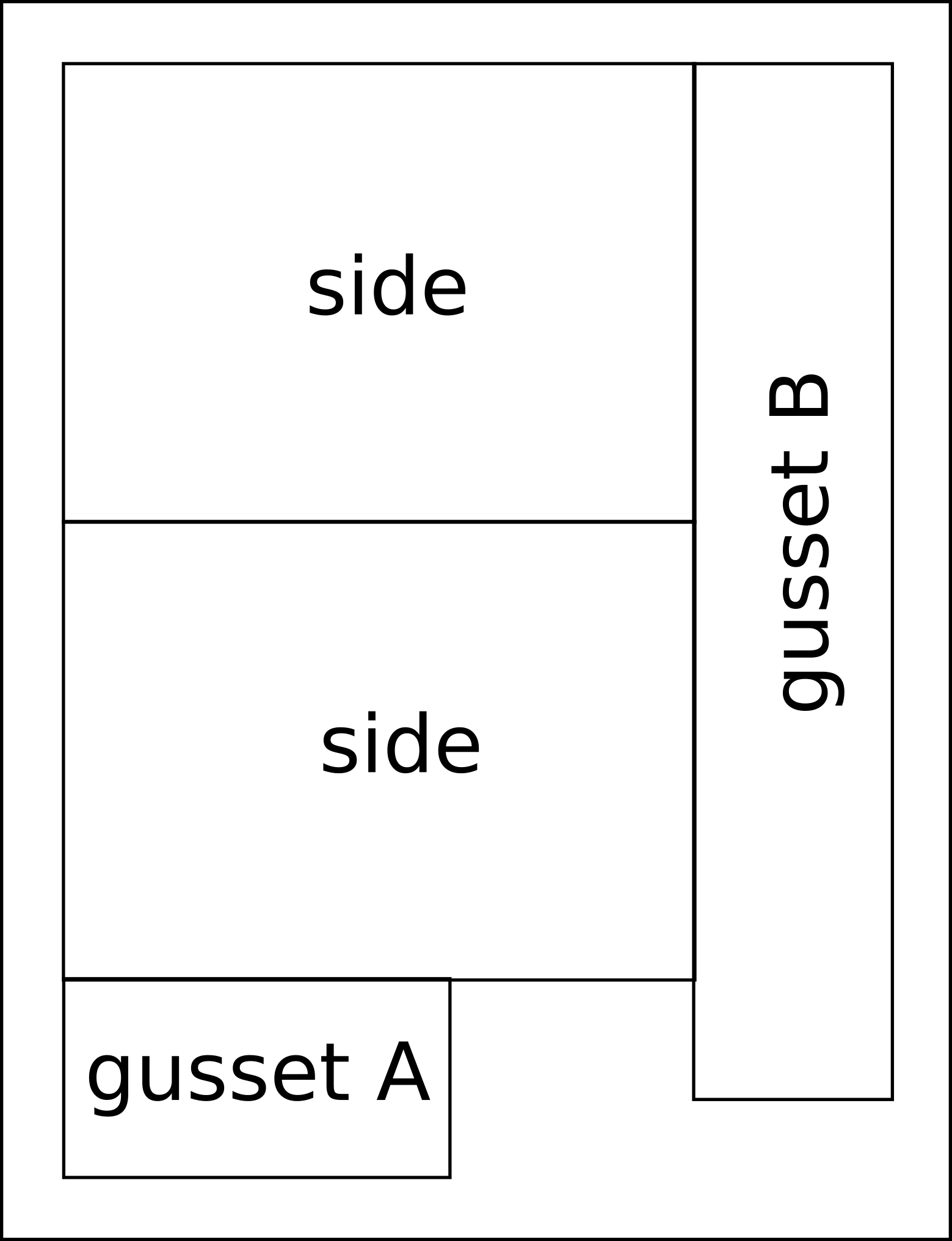 Quilted Piece A - fat quarter diagram