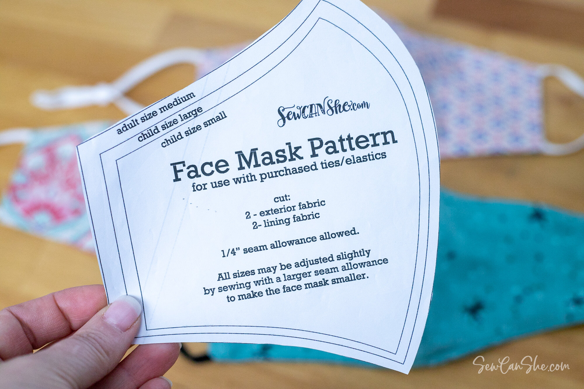 free face mask printable pattern