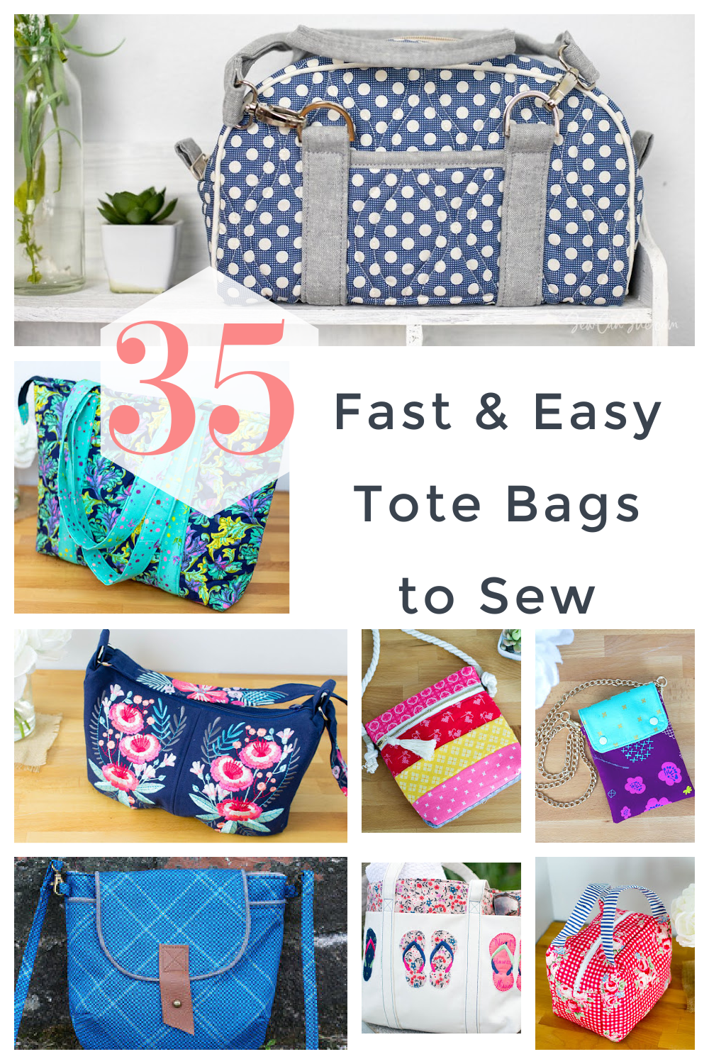 35 Fast And Easy Bags To Sew With Free Sewing Patterns Sewcanshe Free Sewing Patterns For Beginners