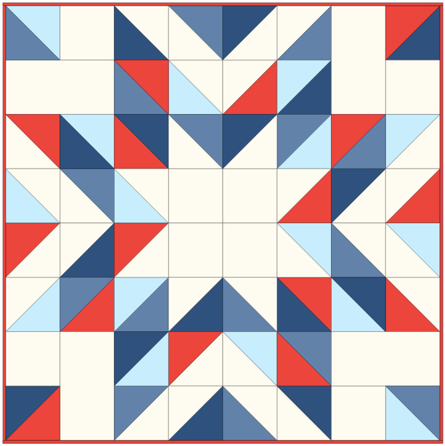 HST Star Baby Quilt Pattern diagram free