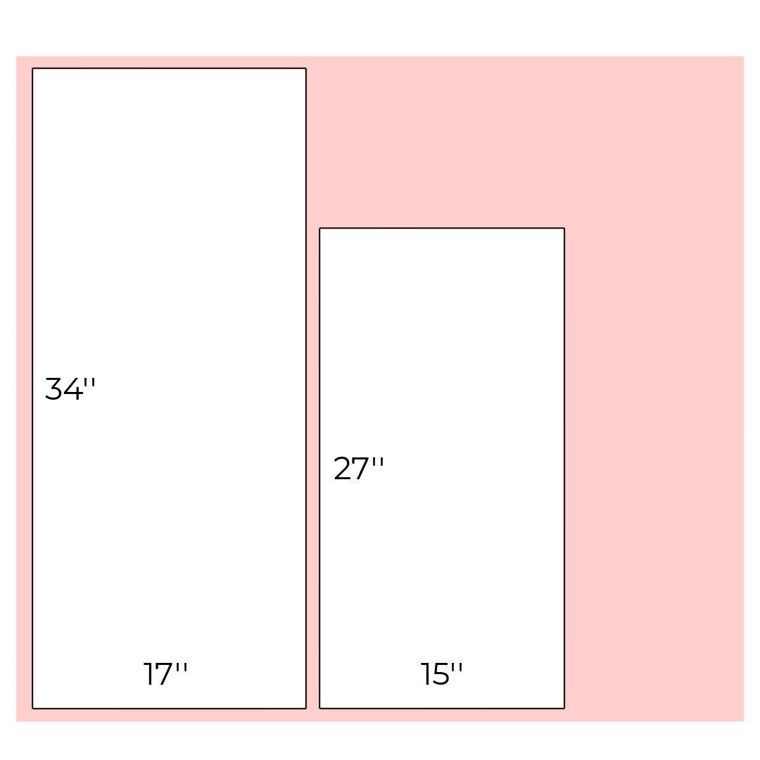 Cutting diagram for the exterior and interior fabrics
