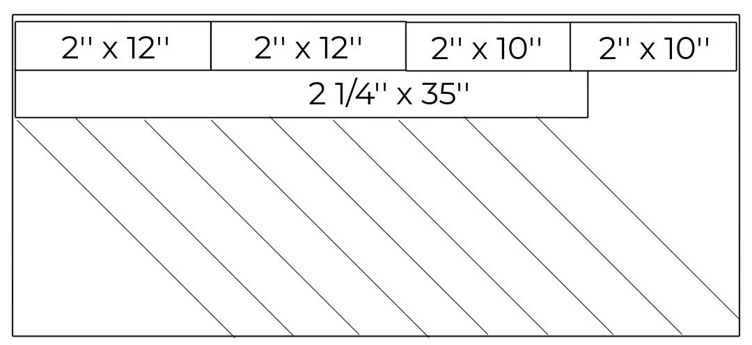 Cutting diagram for the binding strips