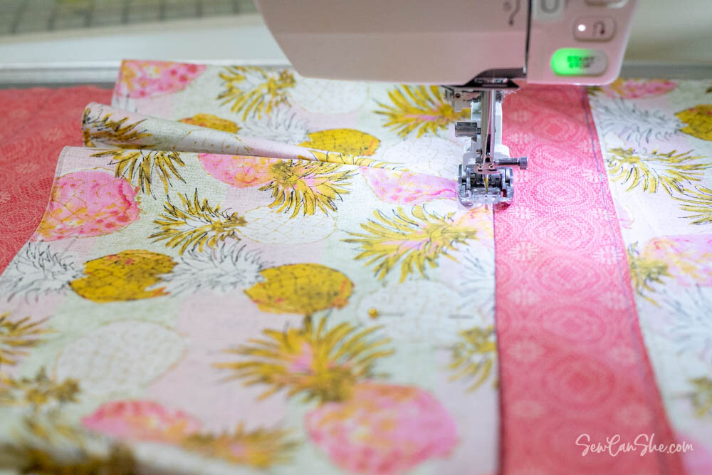 sewing the organizer pockets