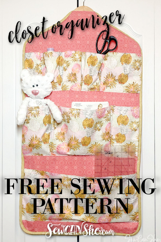 closet organizer sewing pattern