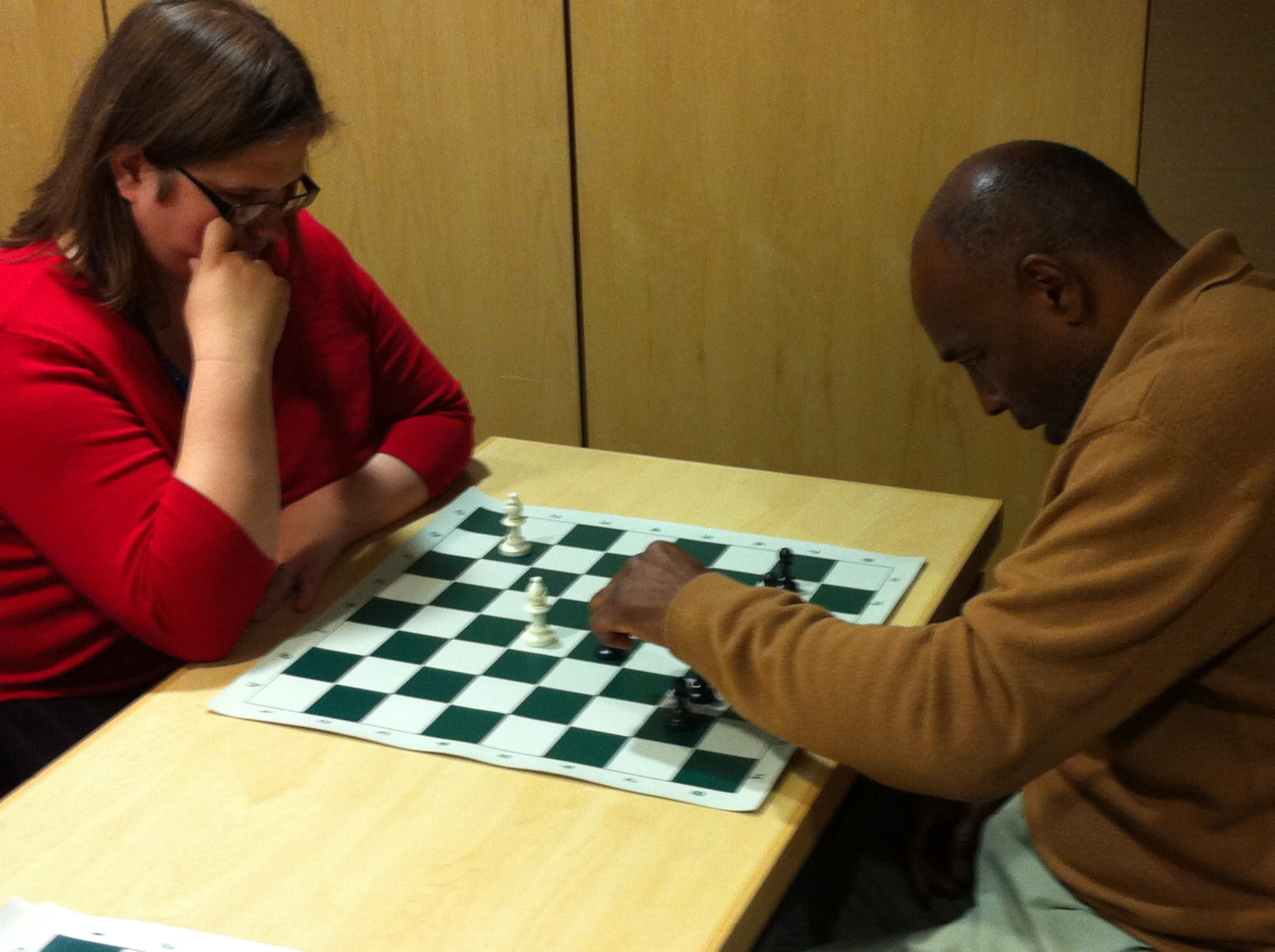 LINC Chess University class at the Plaza Library