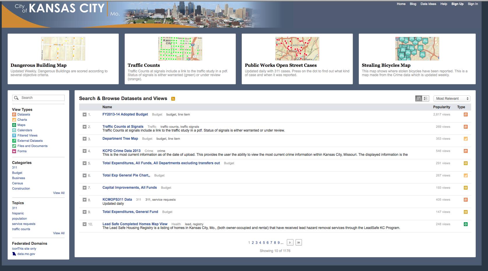 KCStat Dashboard displays data through a cross-browser, modual interface.