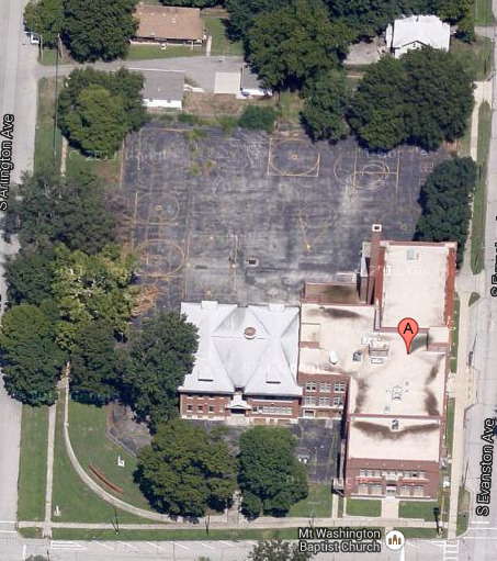 This Google maps show the potential former school grounds available for development as community space