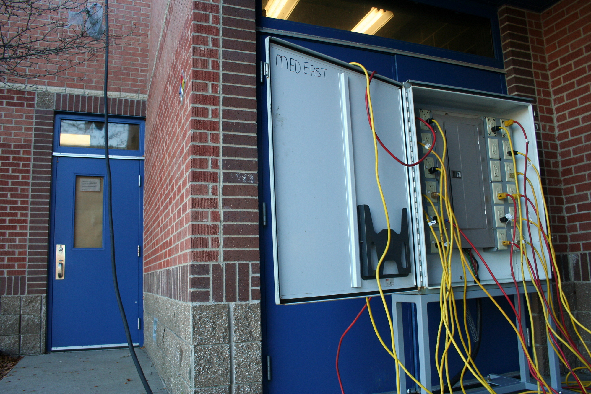 IBEW  supplied the electrical resources to the barbers for no additional cost to the school.
