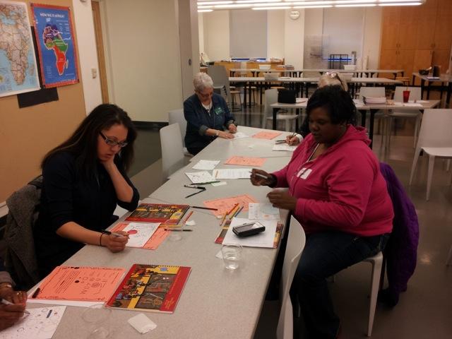 LINC site staff participate during Nelson-Atkins art workshop.