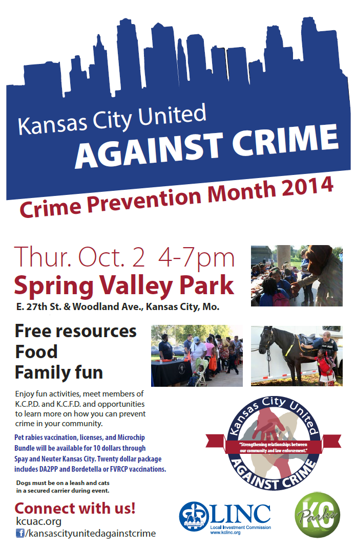 Kansas City United Against Crime 2014 flyer image