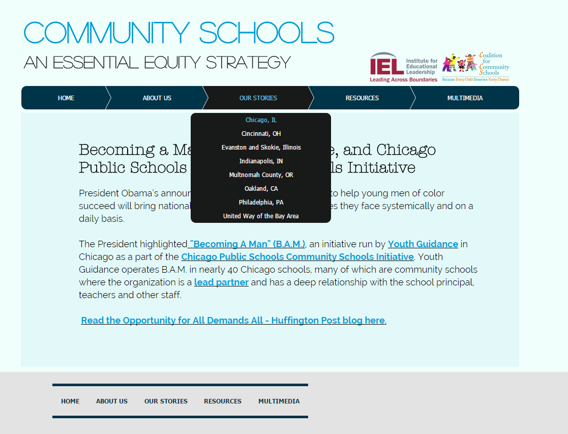 Stories from community schools across the country can now be shared on the Coalition's new website.