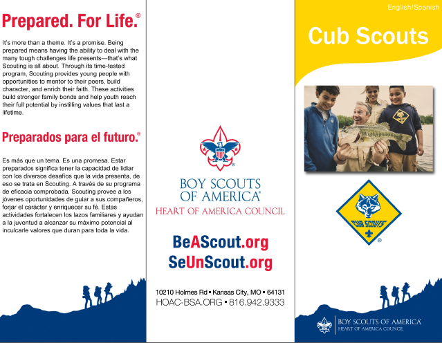 Bilingual Cub Scouts brochure. Download  here .