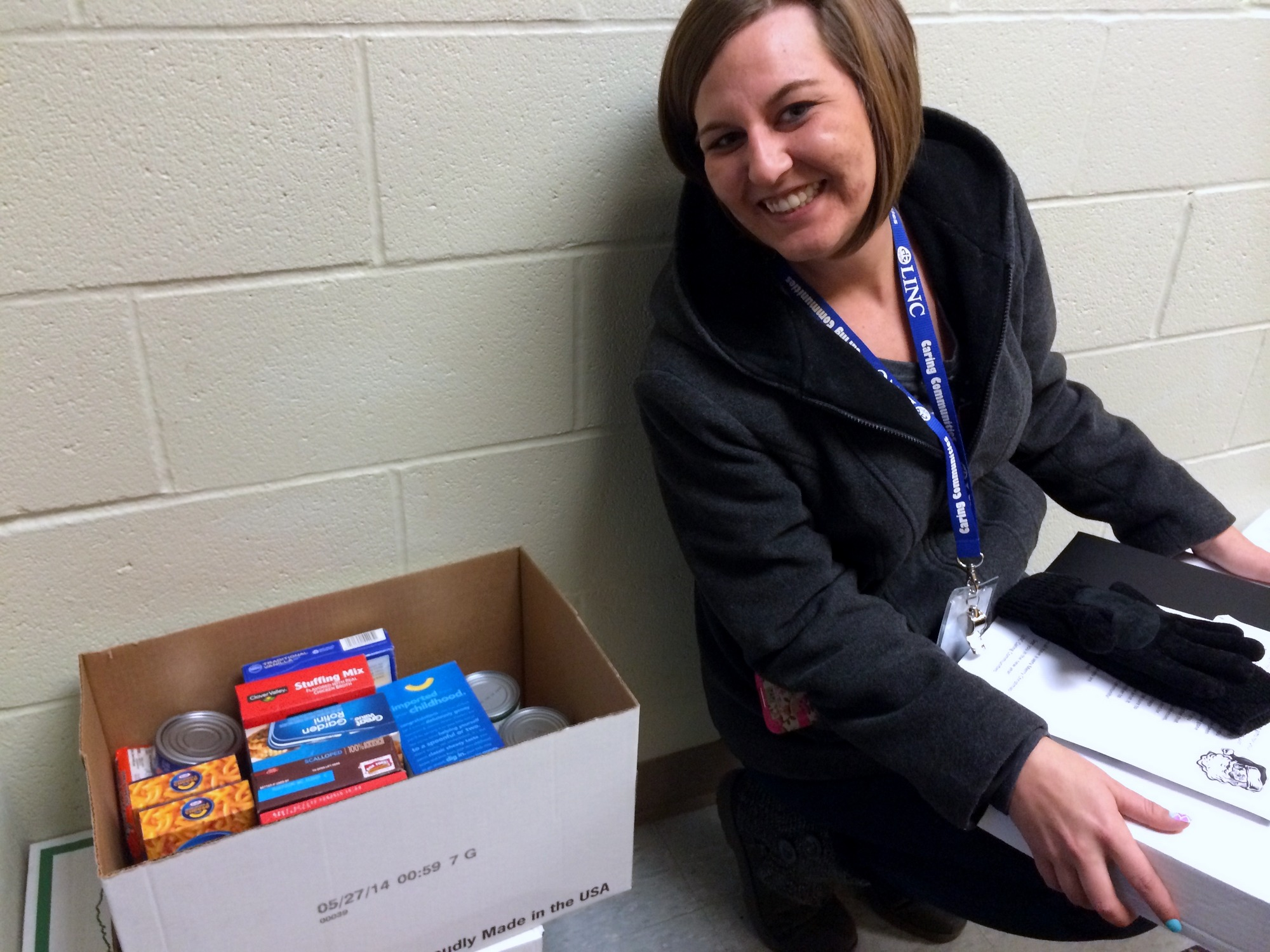 Kristin Potter, LINC Site Coordinator at Indian Trails Elementary, worked to supply food and gifts to Indian Trails families during the holidays.