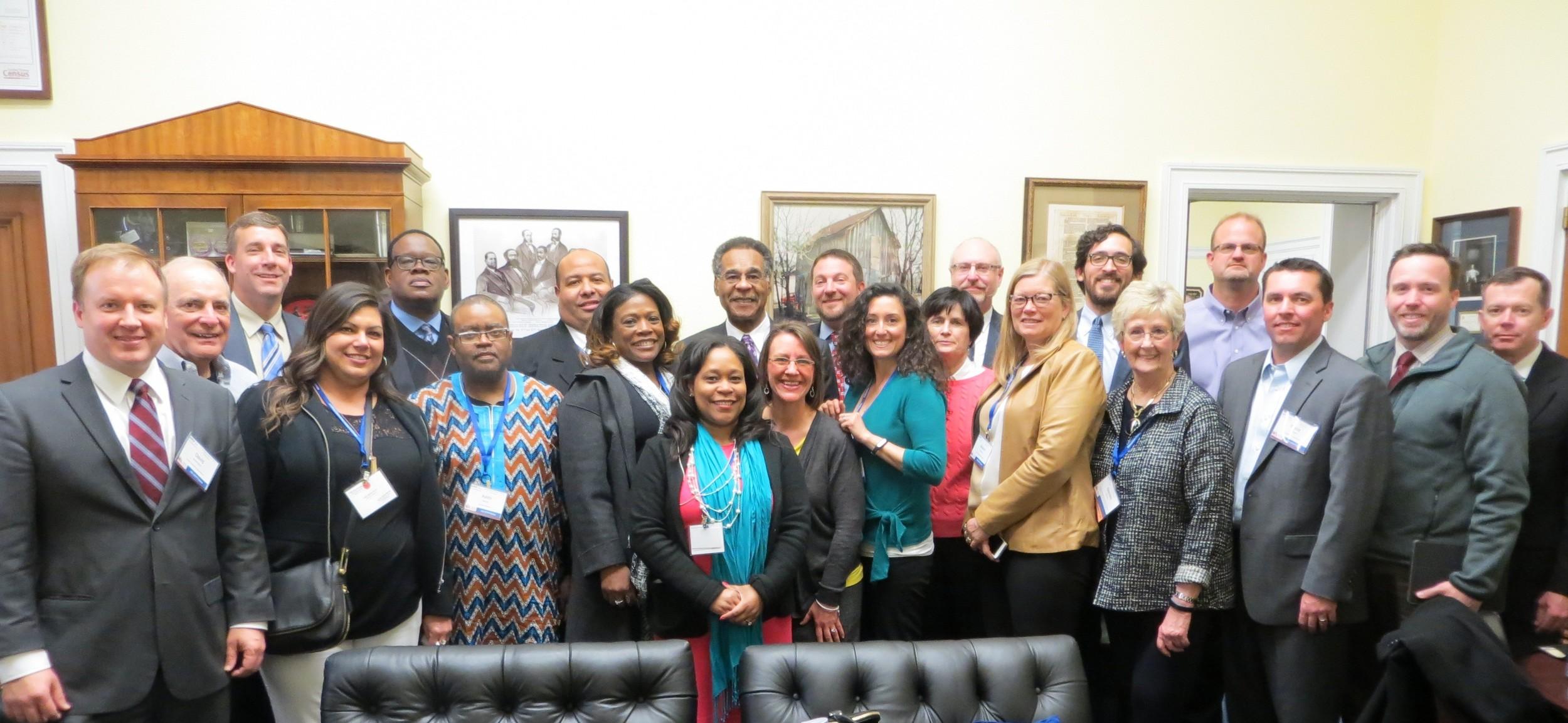 2015-2016 EPFP fellows with U.S. Congressman Emanuel Cleaver II.