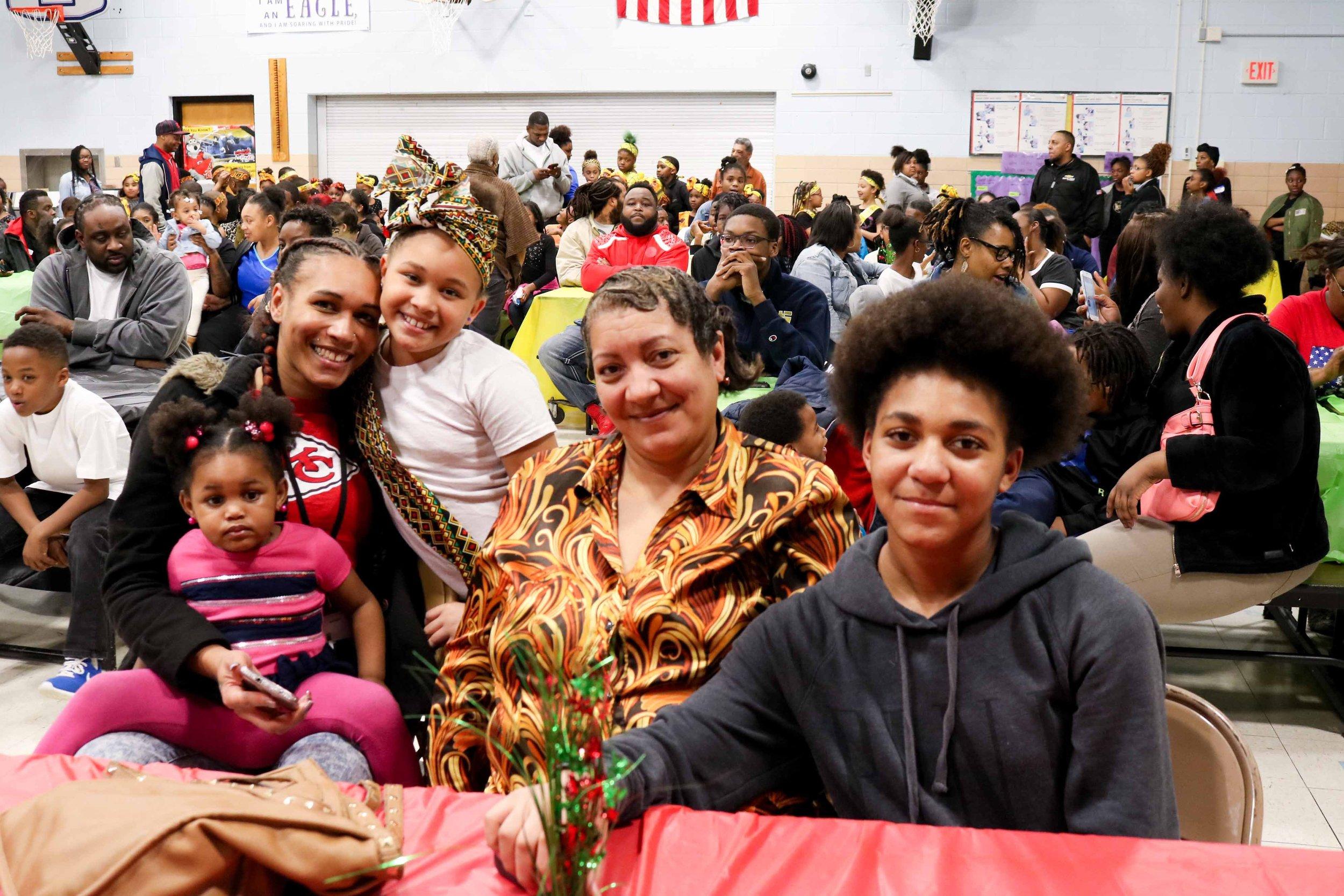 Families at the Symington Elementary Black History Program.