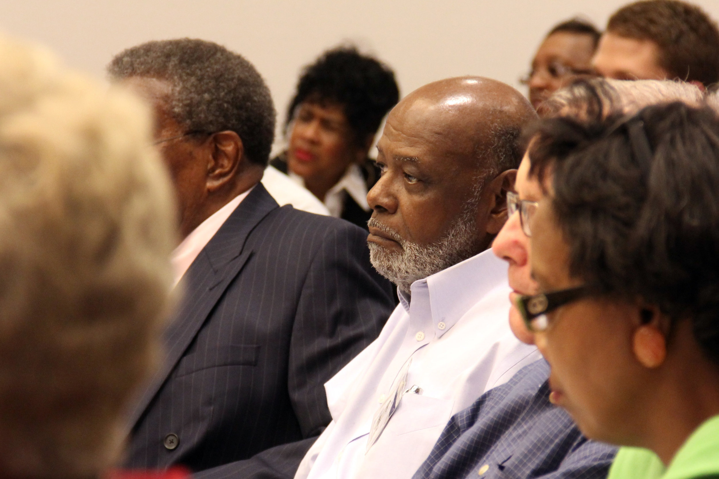 LINC Commissioner Herb Freeman participates in a meeting in June 2013.