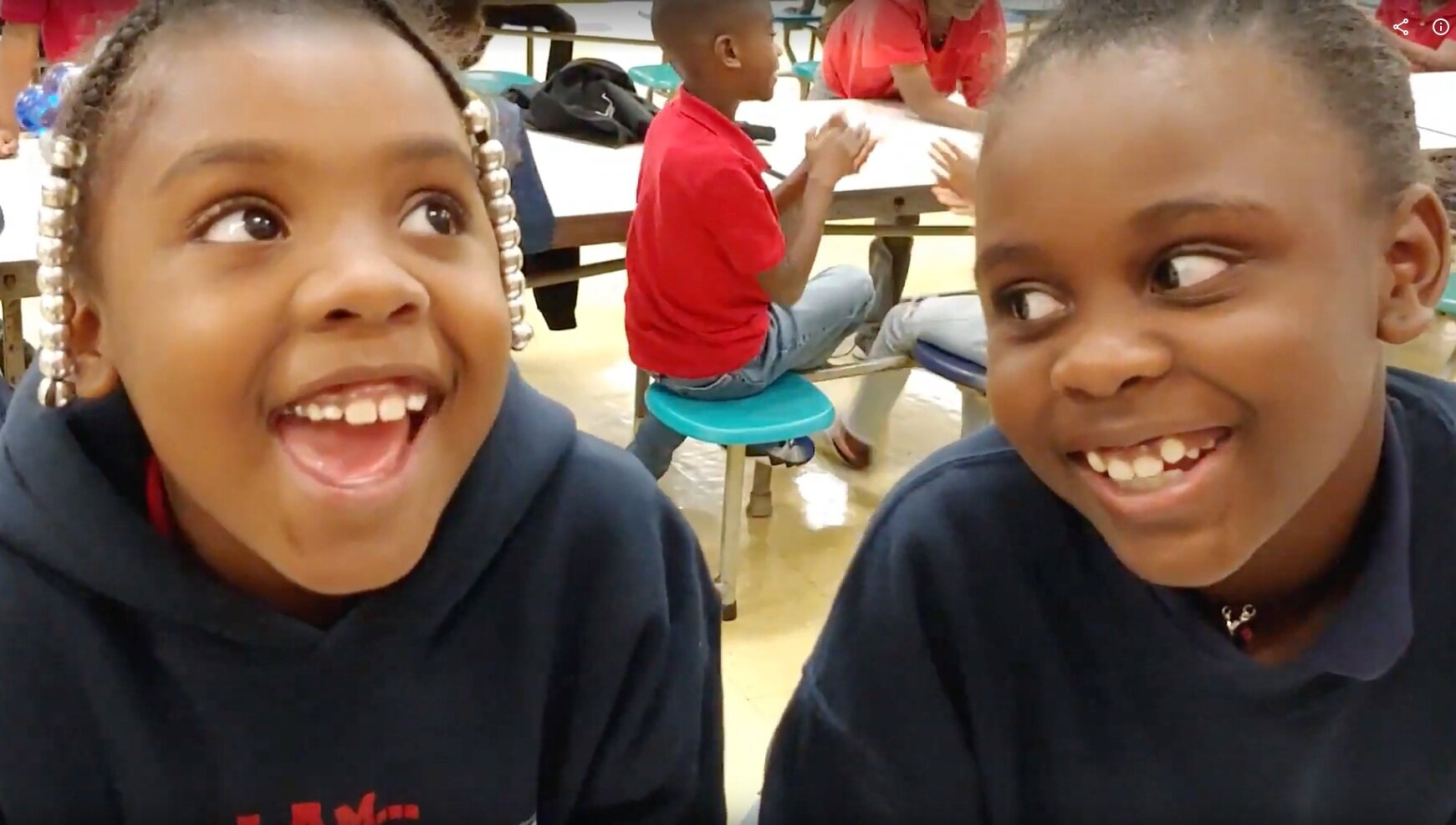 8-year-old Indian Creek Elementary students Tasia Cannon and Zoe Ray in the Center School District tell why they love their LINC after-school program.