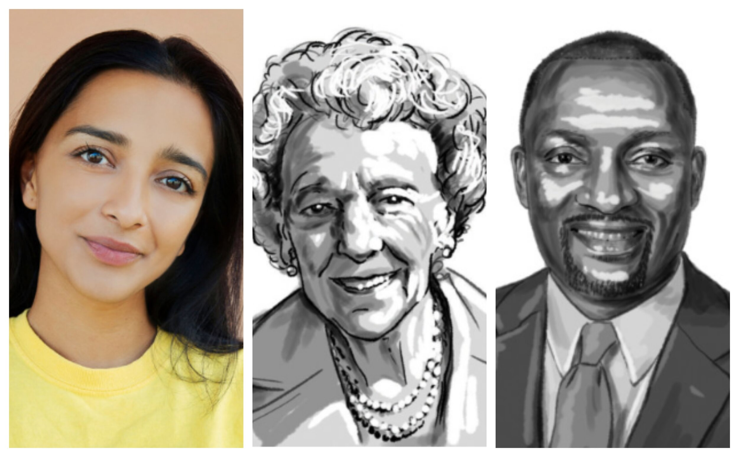 Pictured left to right, Tara Raghuveer, Anita Gorman and Mark Bedell were named three of the Kansas City area's 50 most powerful people by 435 Magazine.  Illustrations for 435 Magazine by Neil Jamieson, David Babcock. Photography by Samantha Levi.
