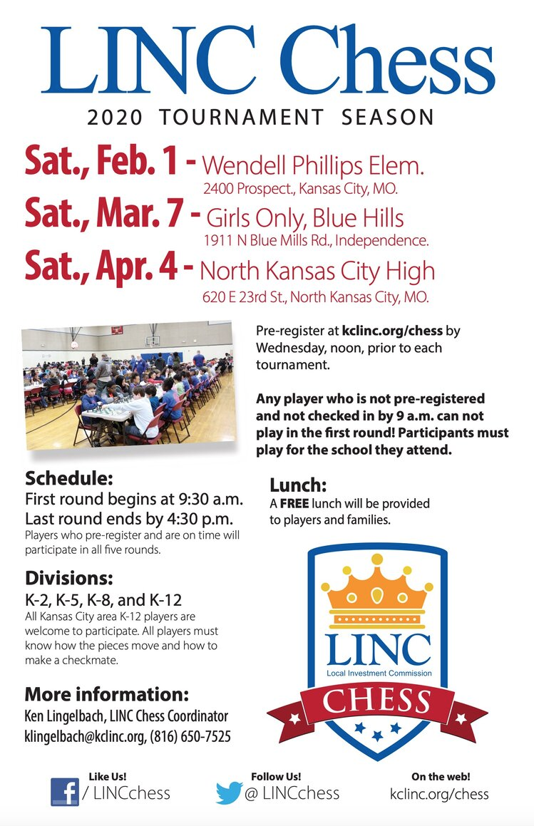 Start your mind engines! LINC chess tournaments announced ... on