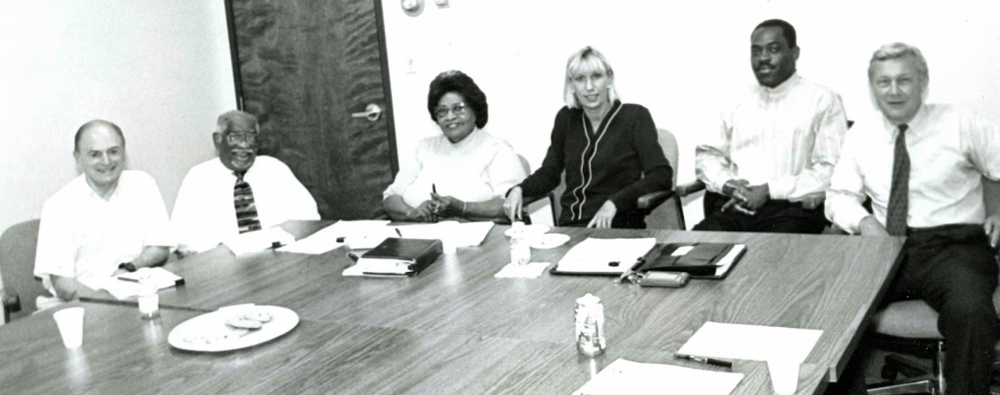 Rosemary Smith Lowe, third from the left, poses with some of her fellow LINC pioneers — left to right — Bert Berkley, Herman Johnson, Lowe, Gayle Hobbs, Oscar Tshibanda and Landon Rowland.