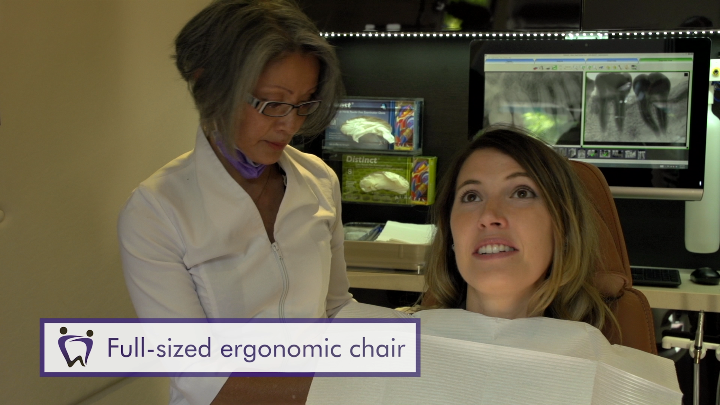 Full-sized ergonomic chair