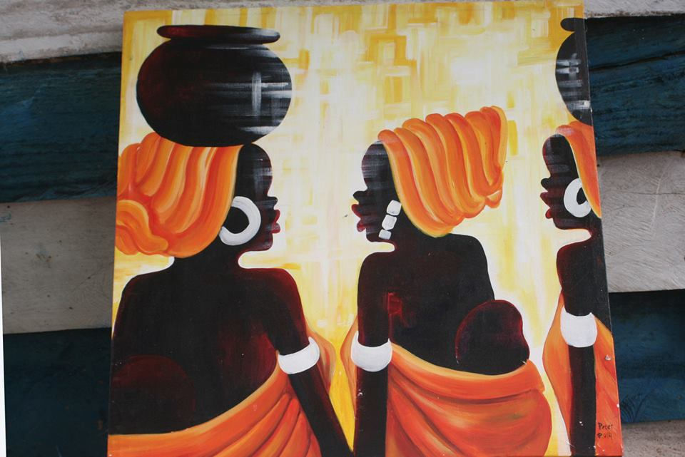 African Women With a Pot