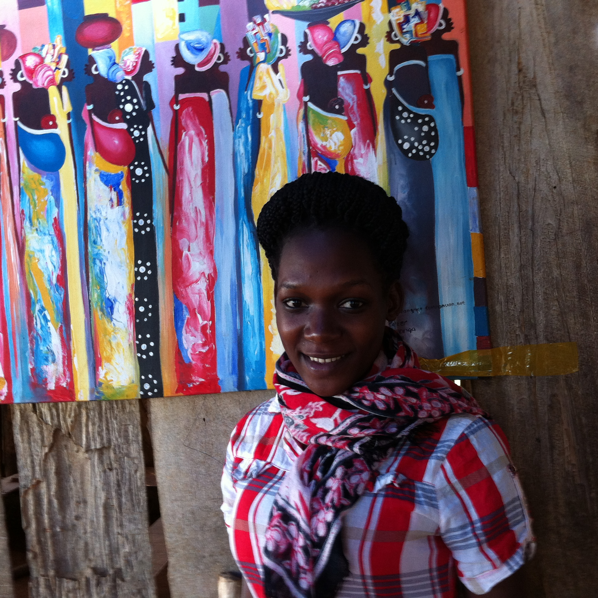 Aisha one of our volunteer at God's Village under Communications Department.