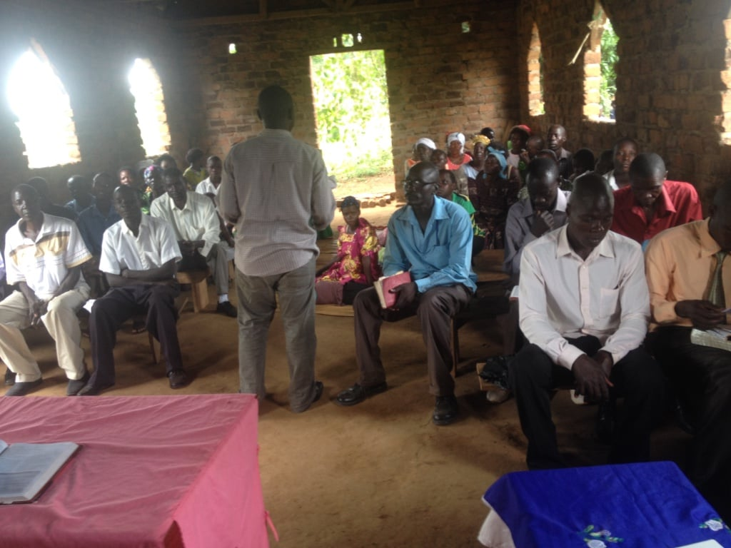 Pr.Ivan Ssewankambo in one of the Discipleship Training in Budaka