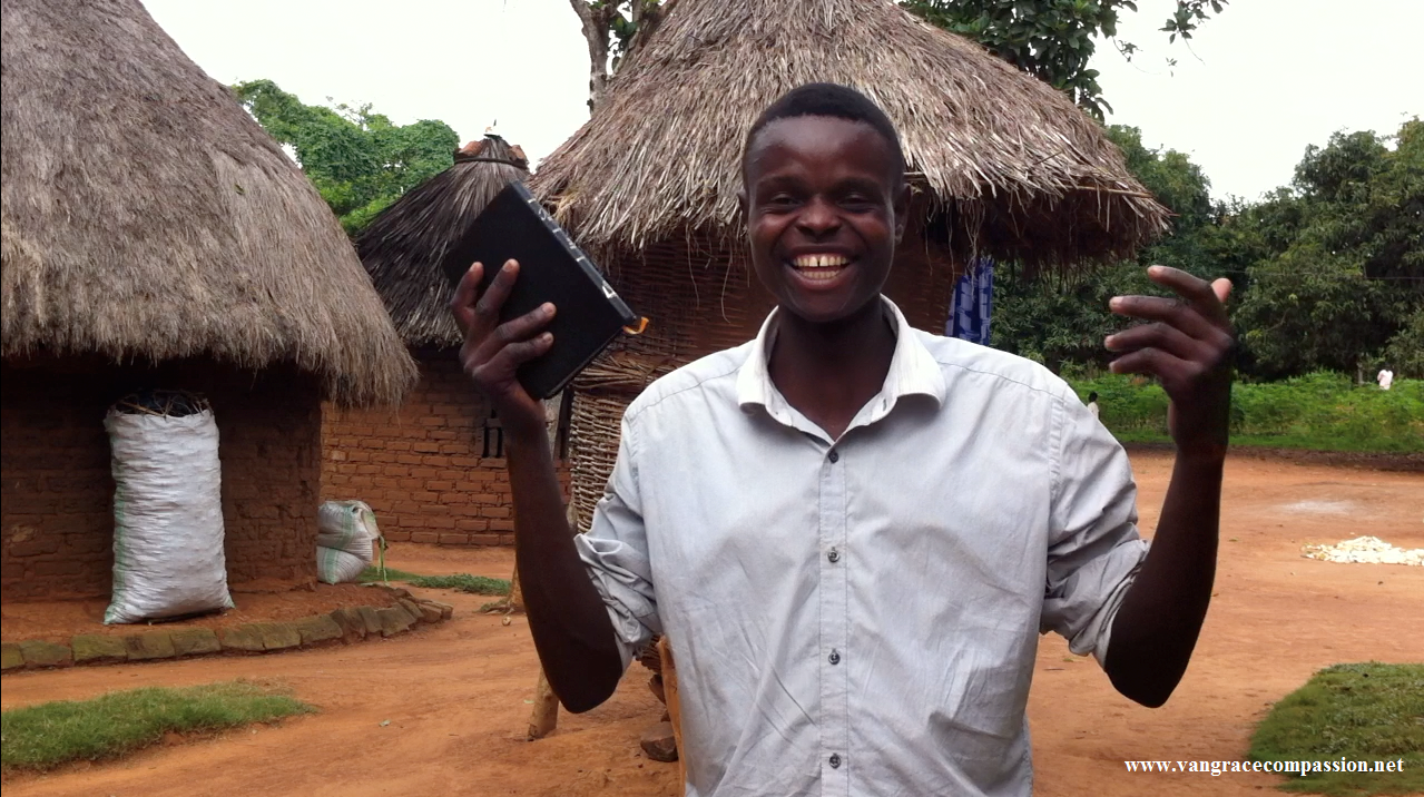 One of the disciple after receiving a bible