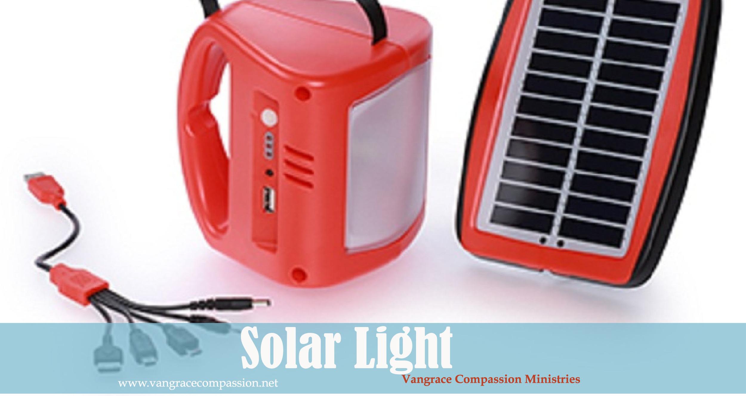 Solar Light Project Vangrace Compassion Ministries