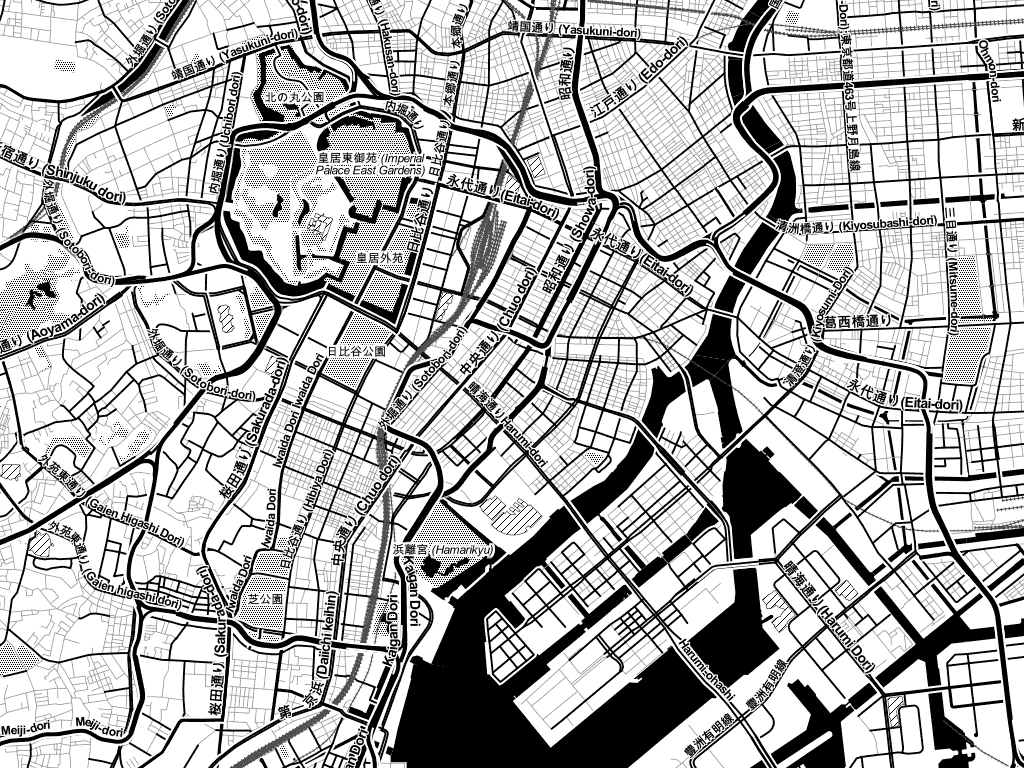 Toner was one of my personal projects during my time at Stamen. View the  map .