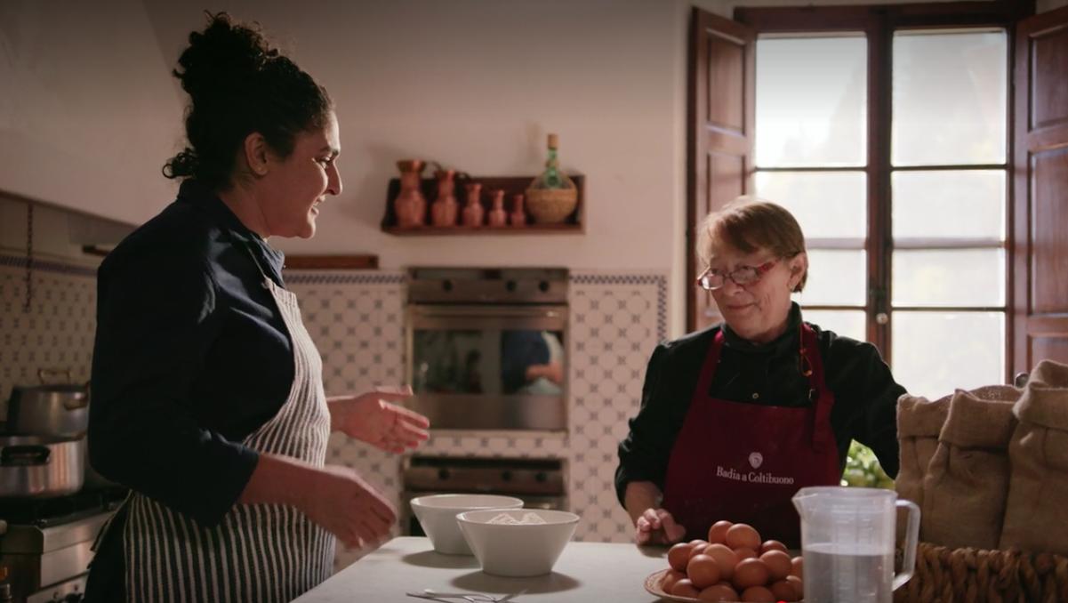 Samin and Benedetta in the Badia Kitchen