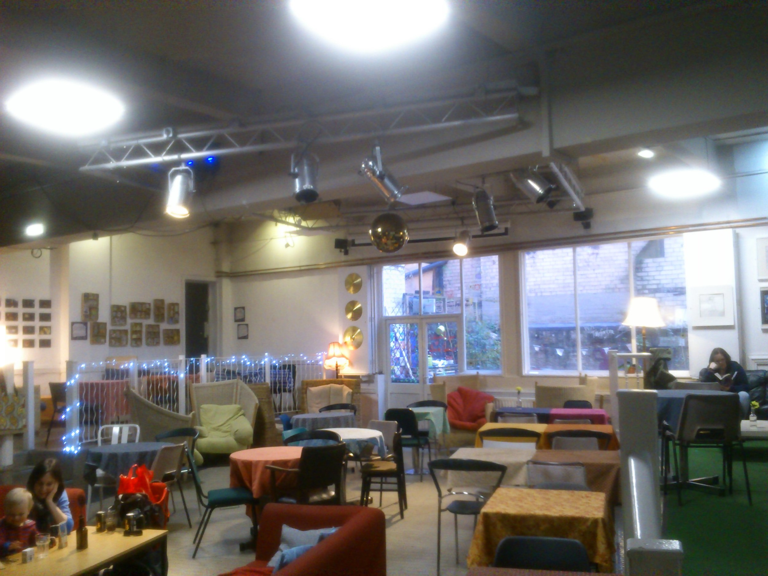 Nexus Art Cafe, a wonderful little place which shows art as well as good music. They have a great ethos and very relaxed atmosphere. We obtained details from them and they agreed to let us put on a show if we wanted. It is free too so no cost involved. All very good!