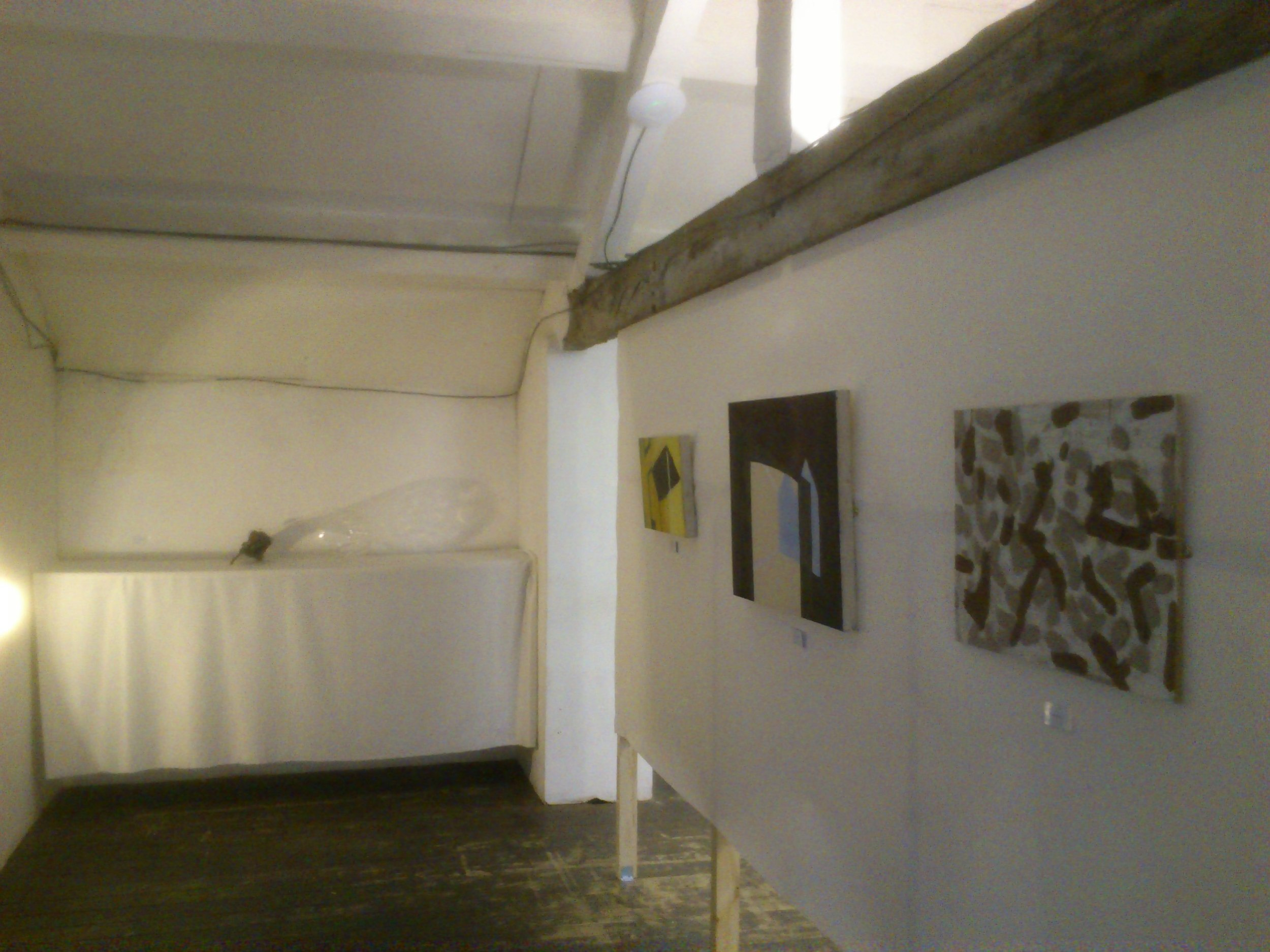 At the back we had Helen's sculpture on the far wall, then Stephen and Ben's   paintings.