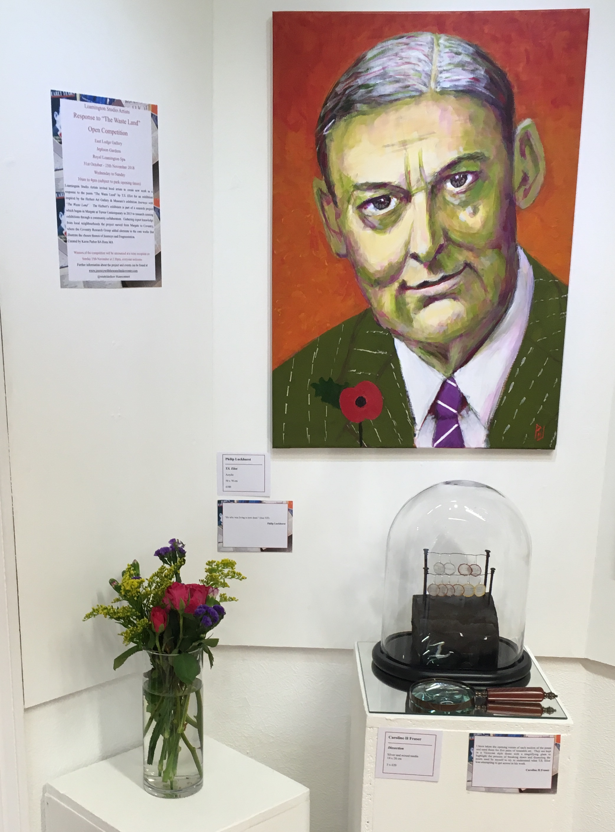 T.S Eliot Entrance to Exhibition- Leamington Studio Artists.jpg