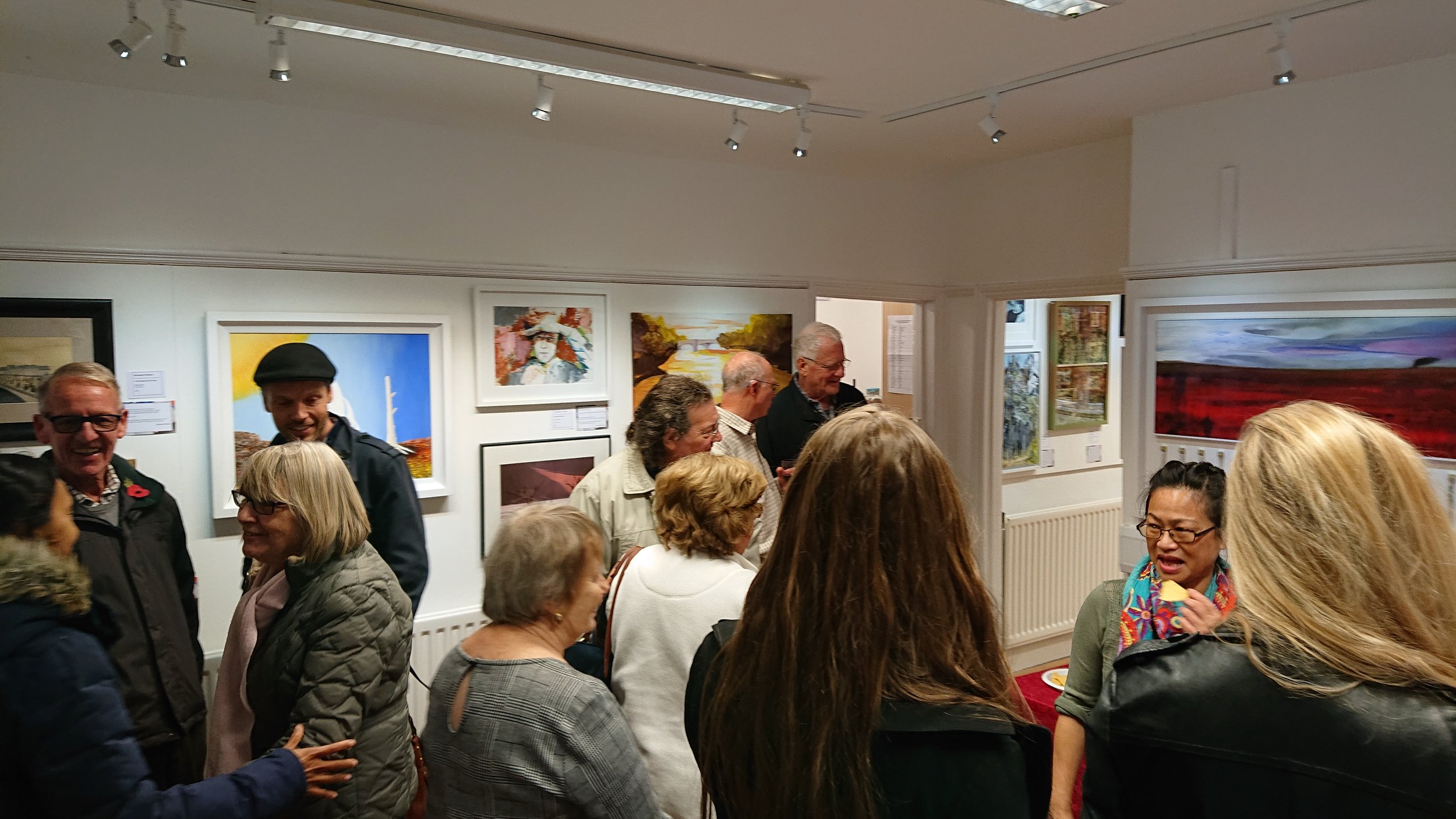 "The Opening Reception for Response to ""The Waste Land"", a great success and a fantastic opportunity for artists and friends to discuss their work and ideas"