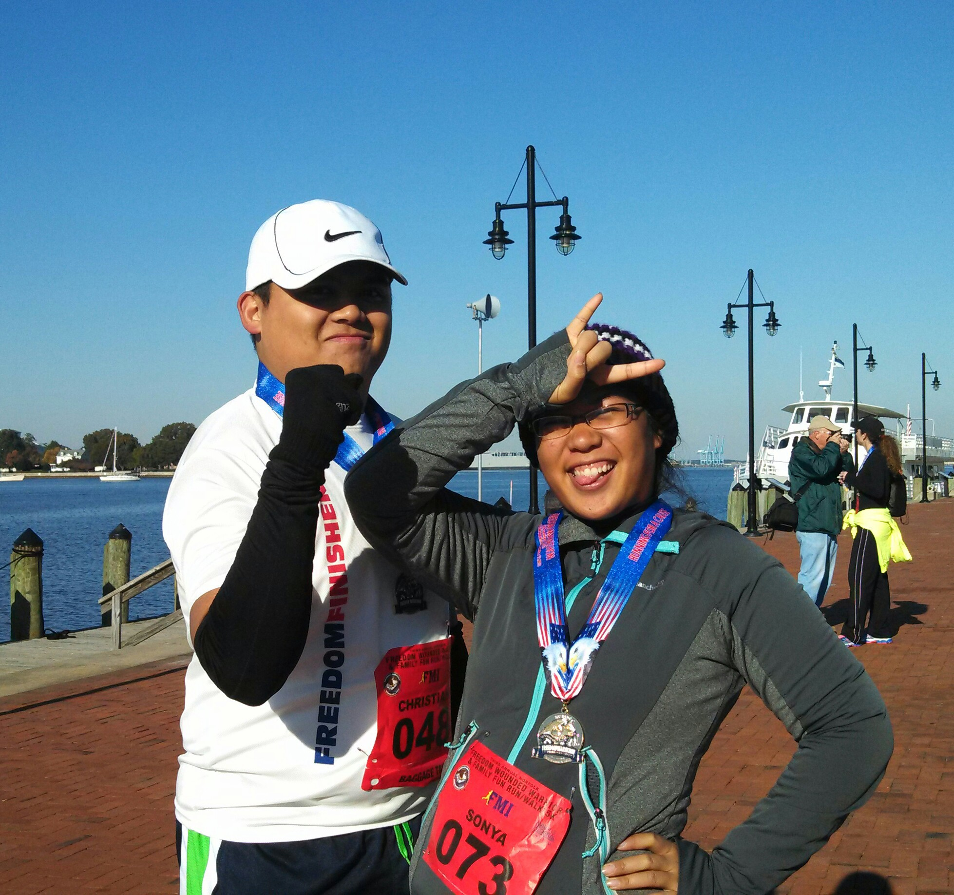 Finished with my 5K in Norfolk with my boyfriend on my side. Finished in 41 minutes without stopping.