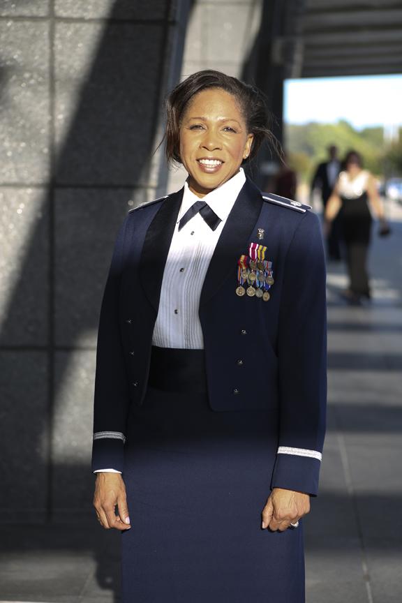 Lt Col Kathy Taylor at Langley Air Force Base 100th Anniversary Gala, Hampton, Saturday, Sept. 17, 2016.