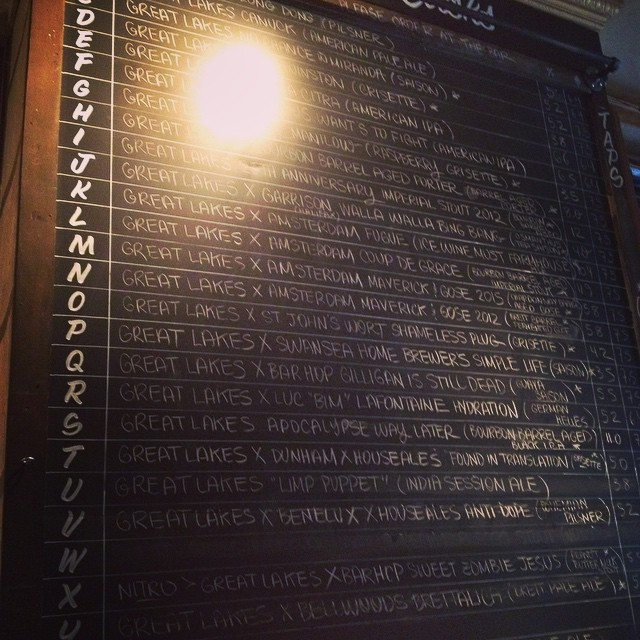 Great Lakes Brewery has invaded Bar Volo today! I like that. #beer