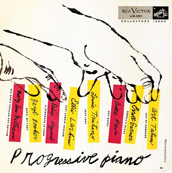 design-is-fine :     Andy Warhol, album cover for Progressive Piaon, 1954. Via  Poul Webb