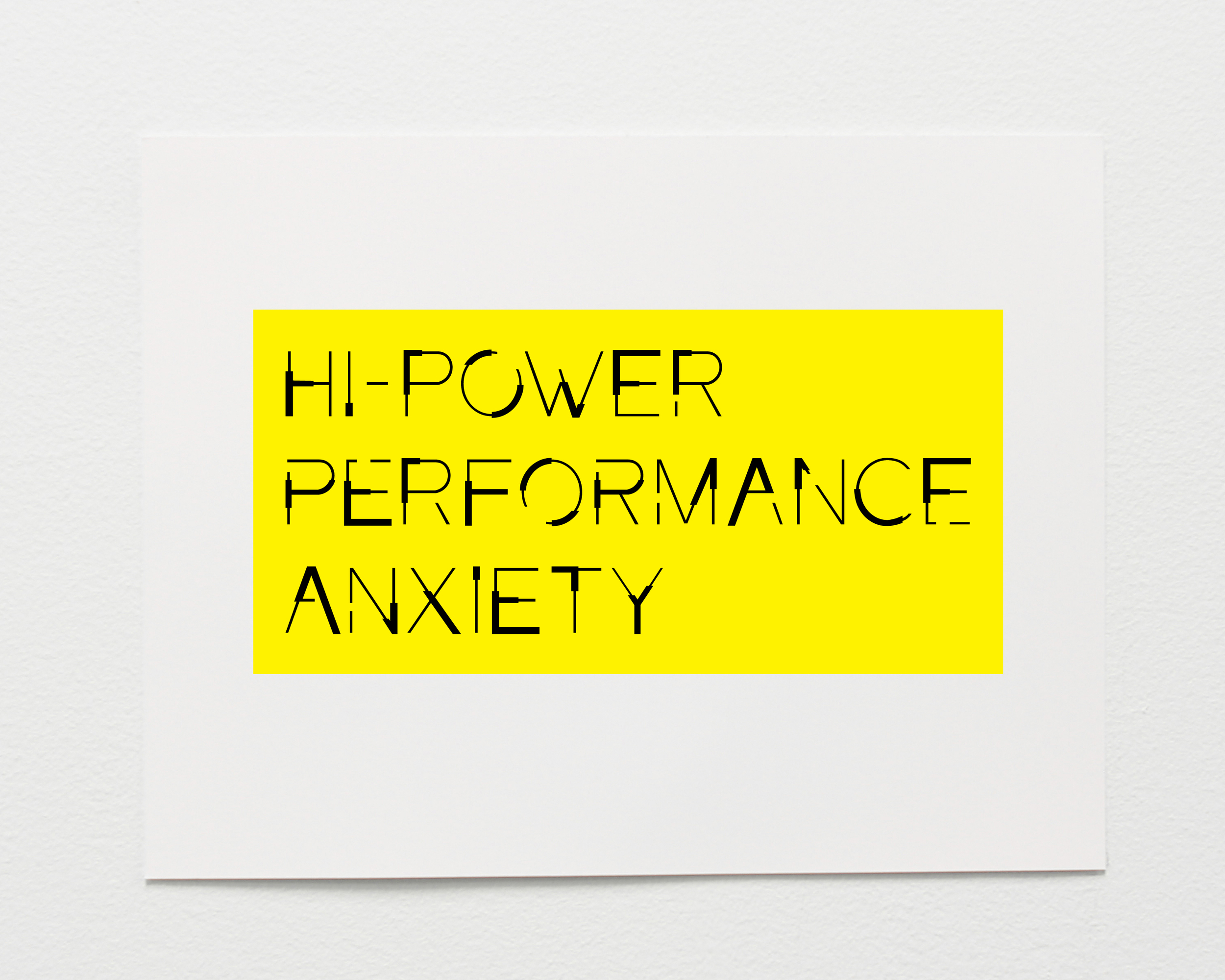 Hi-Power Performance Anxiety
