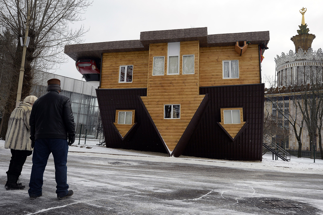 Moscow Their Upside Down House
