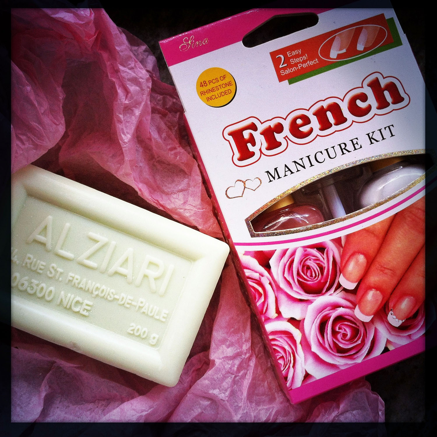 French manicure set and olive oil soap from Nice
