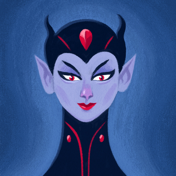 Me as the Evil Queen. Illustration by  Kyle Webster.