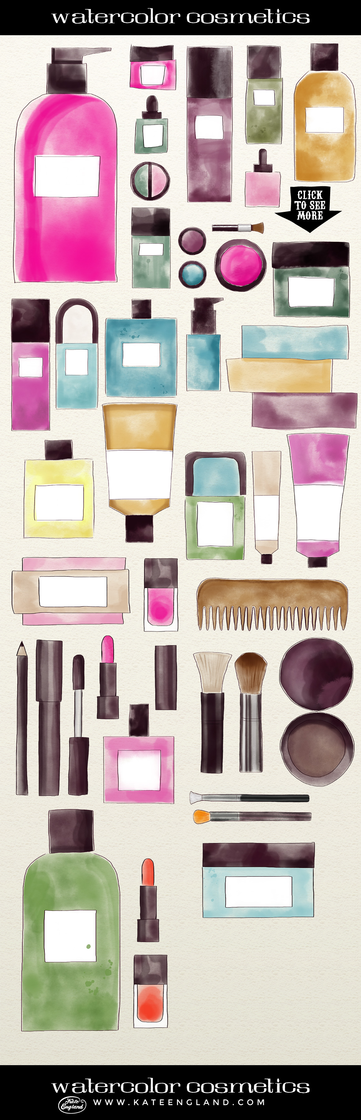Watercolour Cosmetics  by Kate England.