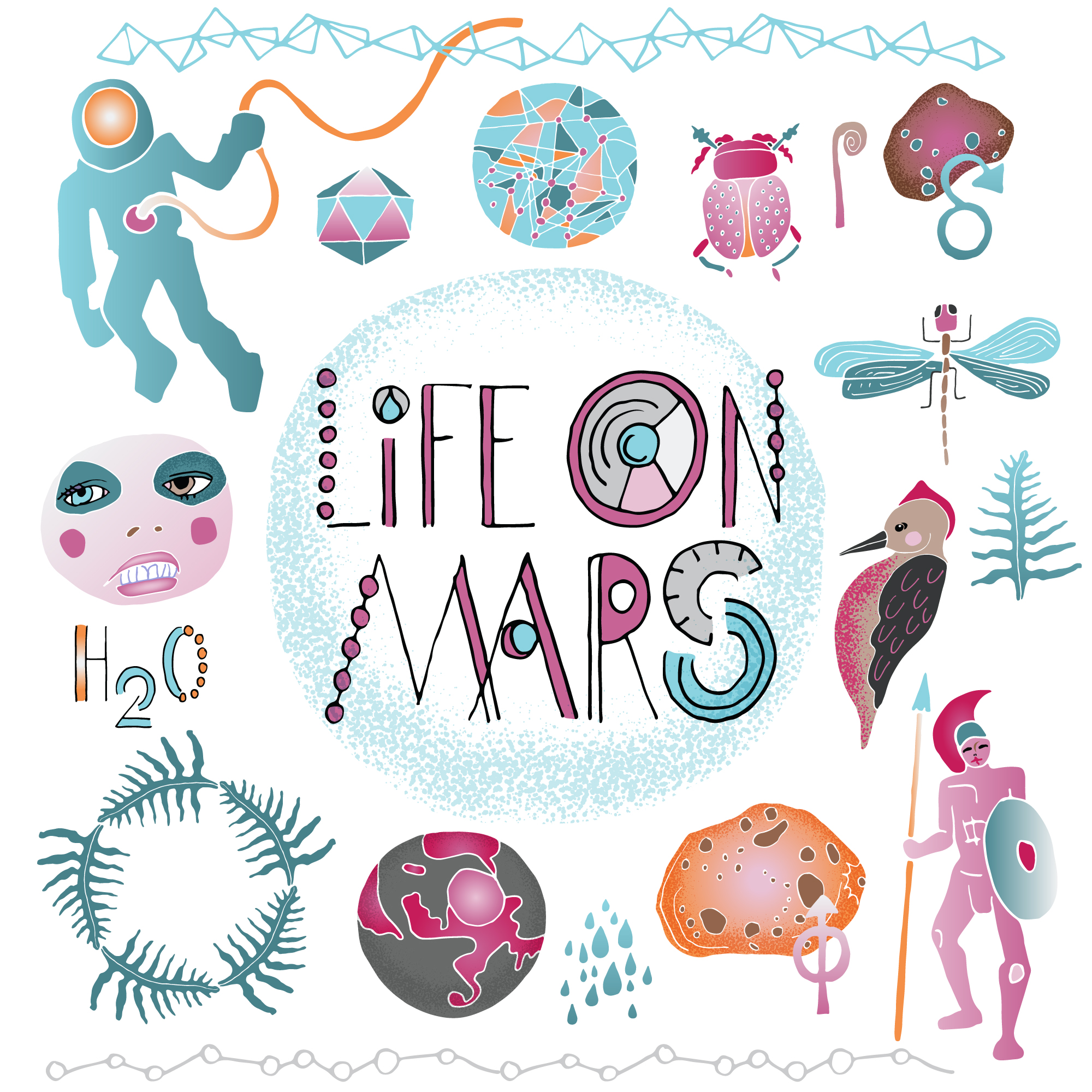 Illustrations available at Creative Market:   Life on Mars  .