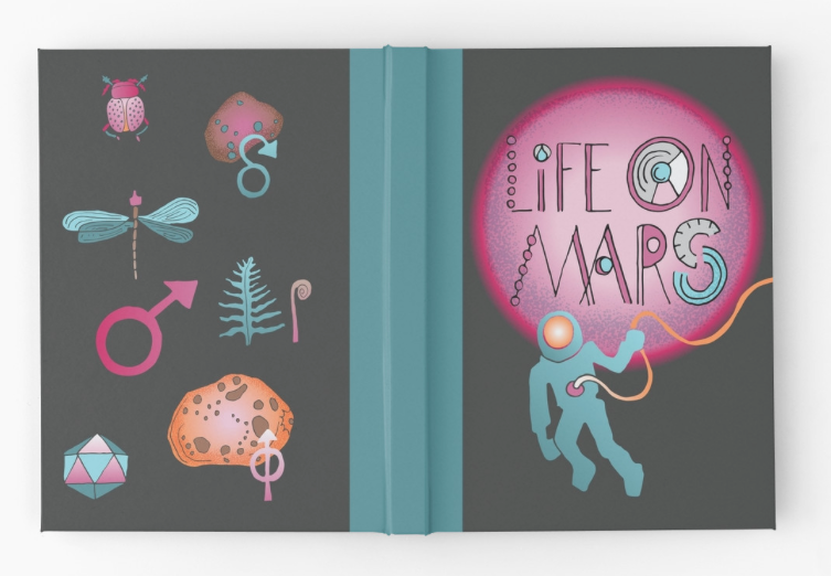 Life on Mars . Hardcover journal available  here .