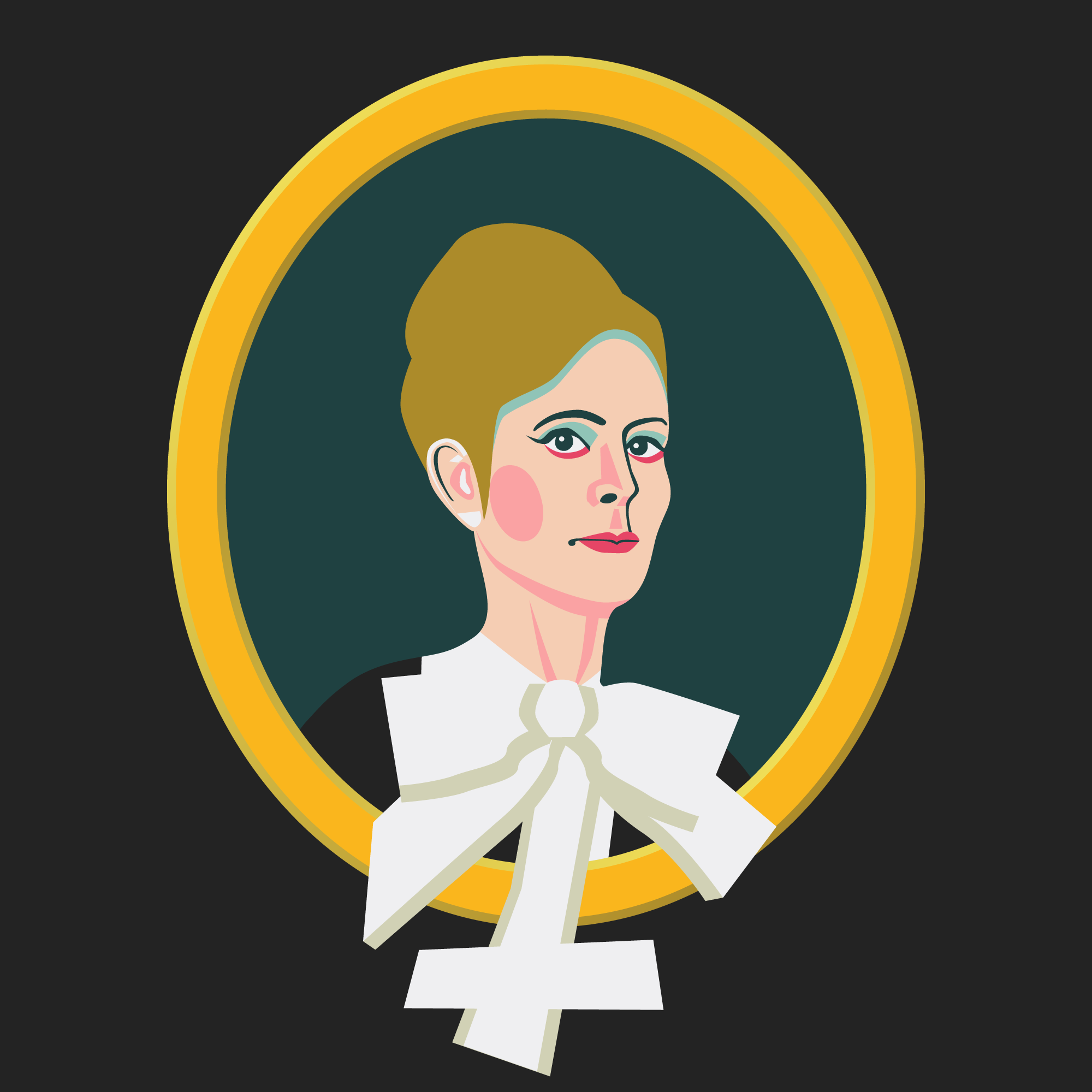 Illustration of Sara Danius.Swedish professor of literature, essayist and writer. Permanent Secretary of the Swedish Academy 2015-2018.