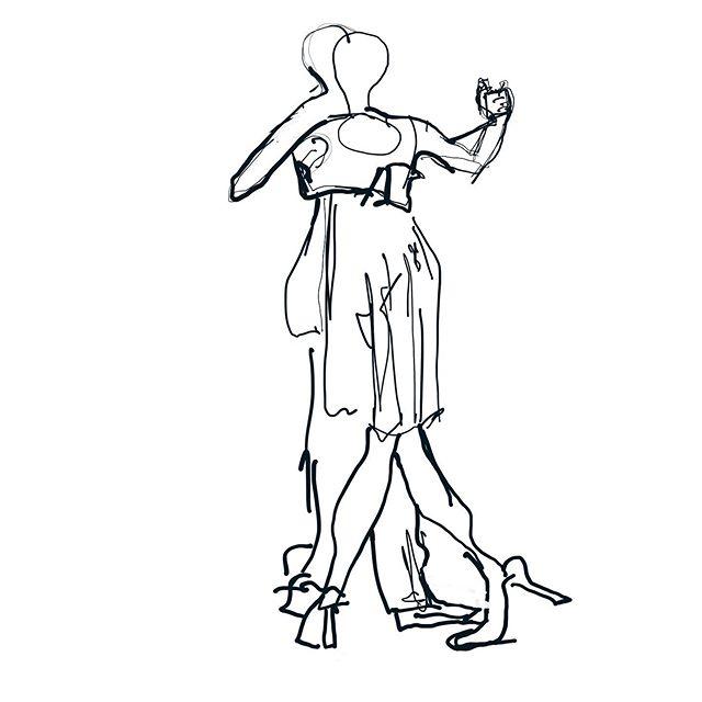 Two to tango.  @soedergran #tango #dance #music #womenwhodraw #drawing #marmalademoon #artistsofinstagram